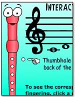 Interactive Recorder Fingering Chart